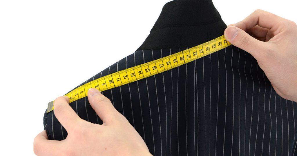 上着の寸法計測